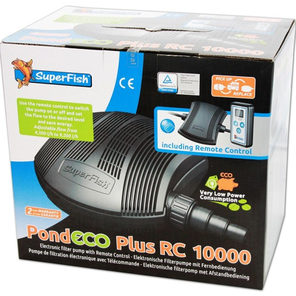 SUPERFISH Pond ECO Plus RC 10000 Teichpumpe - 8715897269295 | © by gartenteiche-fockenberg.de