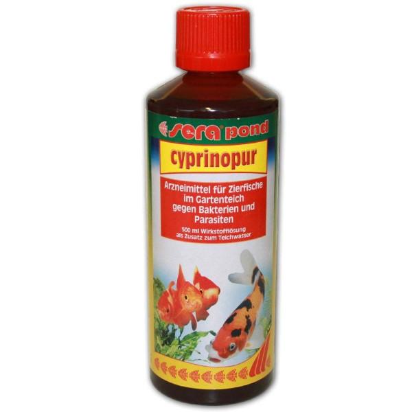 Sera Pond Cyprinopur Fischmedizin 500ml - 4001942074605 | © by gartenteiche-fockenberg.de