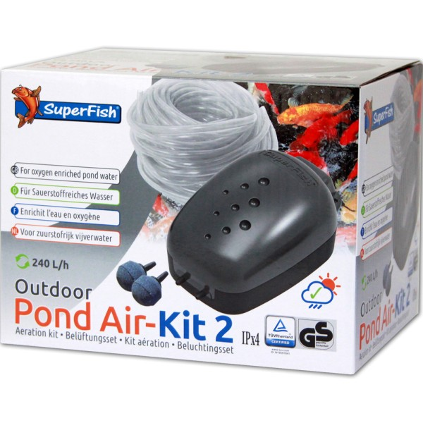 SUPERFISH Pond Air-Kit 2 Teichbelüfter - 8715897033483 | © by gartenteiche-fockenberg.de