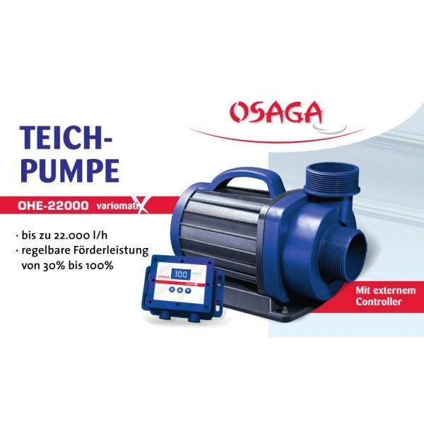OSAGA OHE-22000 VX Variomatix Teichfilter- und Umwälzpumpe