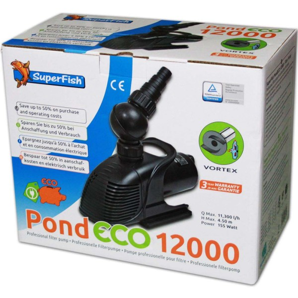 Superfish Pond ECO 12000 Teichpumpe - 8715897043024 | © by gartenteiche-fockenberg.de