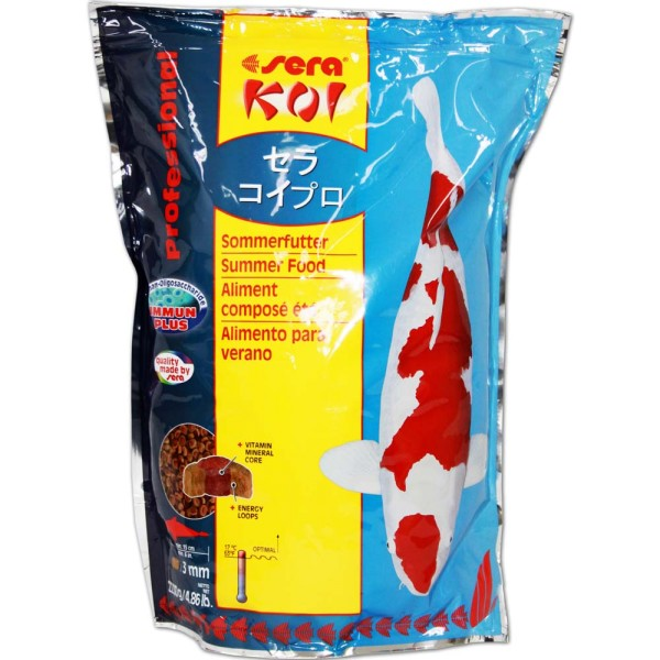 SERA Koi Professional Sommerfutter 2,2kg - 4001942070164 | © by gartenteiche-fockenberg.de