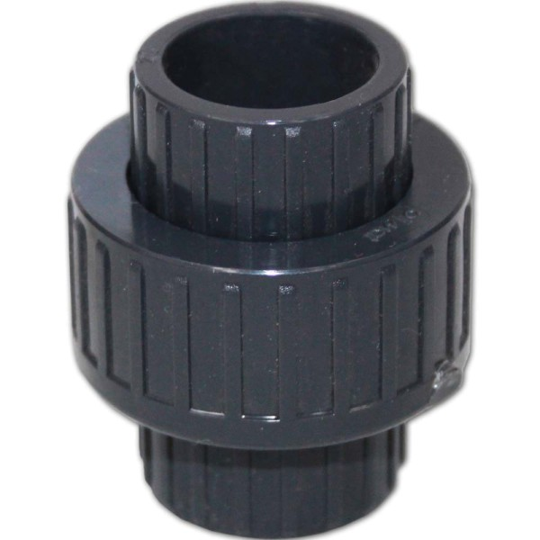 PVC 3/3 Kupplung mit O-Ring Ø 20mm ohne Gewinde | © by gartenteiche-fockenberg.de