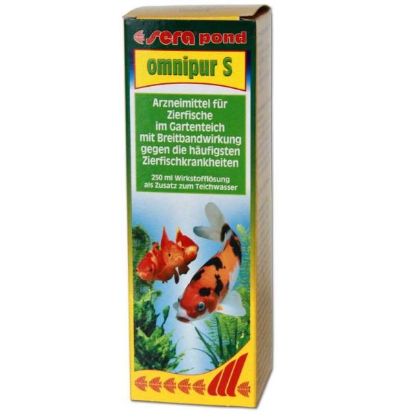 Sera Pond Omnipur S Fischmedizin 250ml - 4001942075527 | © by gartenteiche-fockenberg.de