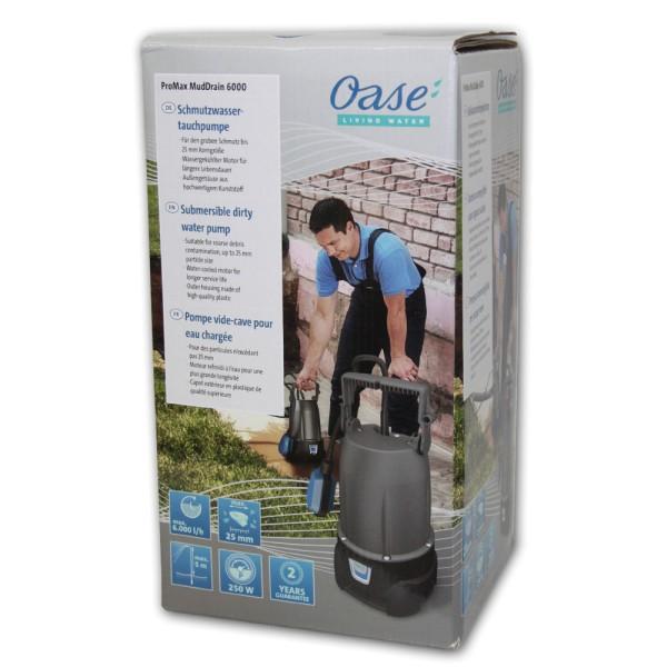 OASOASE ProMax MudDrain 6000 Schmutzwasser-Tauchpumpe - 4010052477480 | by gartenteiche-fockenberg.de