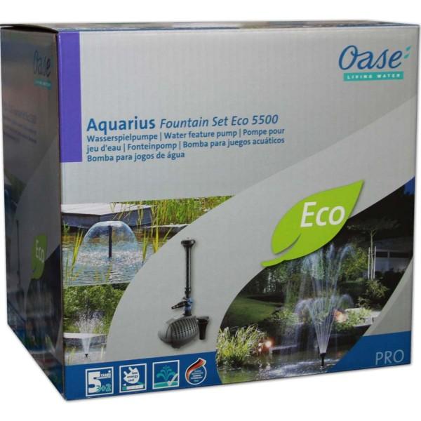 Oase Aquarius Fountain Set 5500 ECO Springbrunnenpumpe - 4010052419237 | © by gartenteiche-fockenberg.de