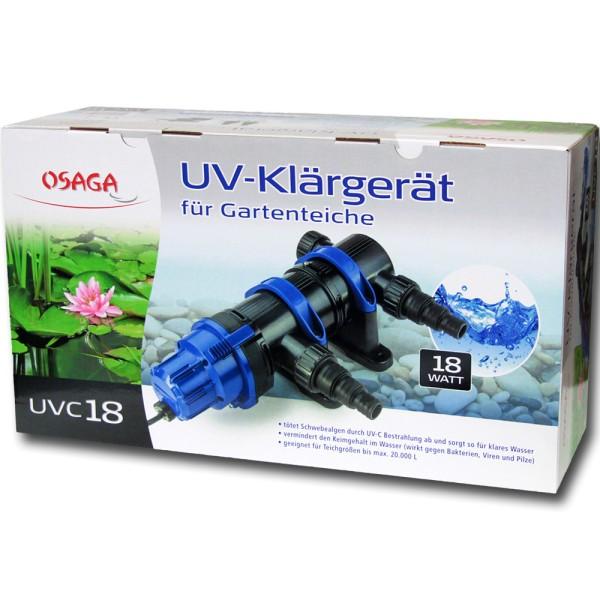 Osaga UV-Klärgerät UVC 18 Modell 2019 - 4250247608996 | © by gartenteiche-fockenberg.de