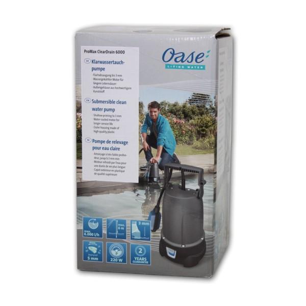OASE ProMax ClearDrain 6000 Klarwasser-Tauchpumpe - 4010052477466 | by gartenteiche-fockenberg.de