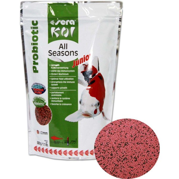 Sera Koi All Seasons Probiotic Junior Koifutter 500g - 4001942444545 | © by gartenteiche-fockenberg.de