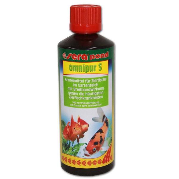 Sera Pond Omnipur S Fischmedizin 500ml - 4001942075701 | © by gartenteiche-fockenberg.de