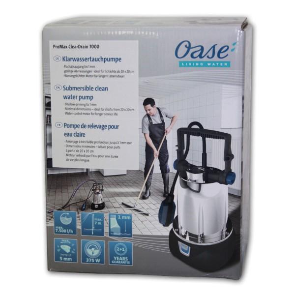 OASE ProMax ClearDrain 7000 Klarwasser-Tauchpumpe - 4010052422602 | by gartenteiche-fockenberg.de