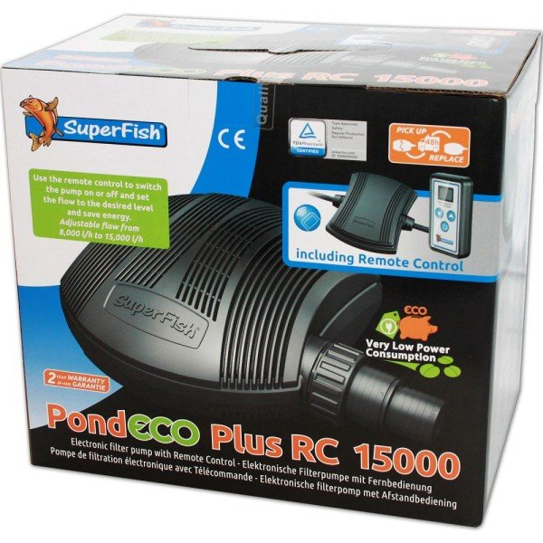 SUPERFISH Pond ECO Plus RC 15000 Teichpumpe - 8715897269301 | © by gartenteiche-fockenberg.de