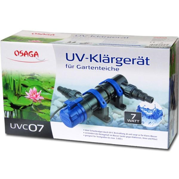 Osaga UV-Klärgerät UVC 7 Modell 2019 - 4250247608972 | © by gartenteiche-fockenberg.de
