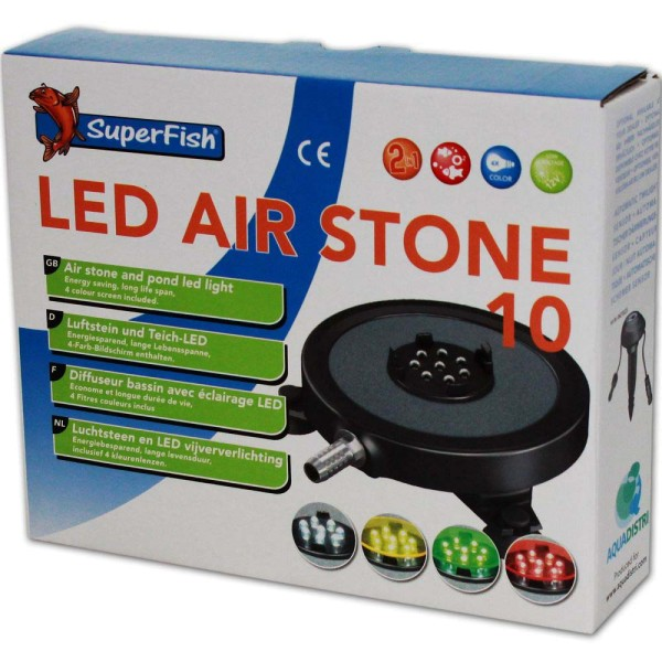 Superfish LED-Air Stone Luftausströmer Ø 10cm - 8715897226571 | © by gartenteiche-fockenberg.de