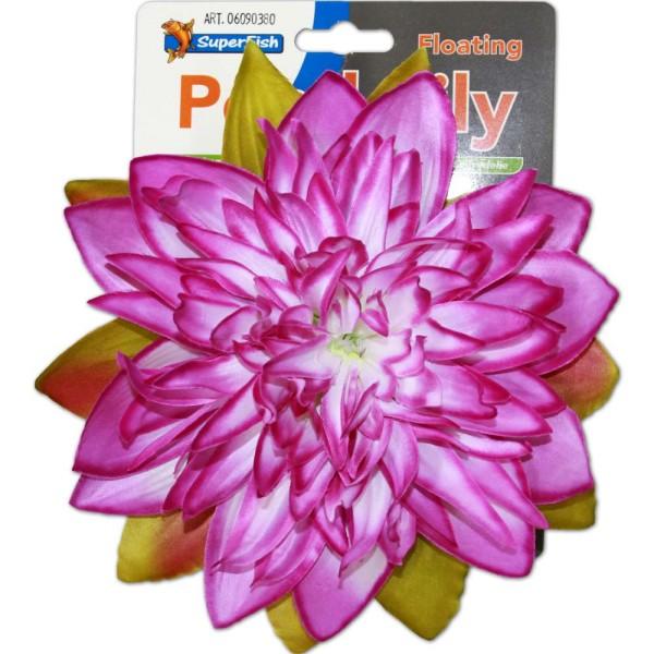 Superfish Pond Lily Seerose violett Kunstblume - 8715897262340 | © by gartenteiche-fockenberg.de