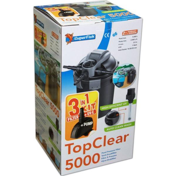 SUPERFISH TopClear 5000 3in1 KIT Teichfilterset