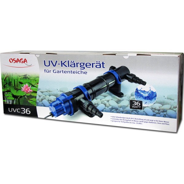 Osaga UV-Klärgerät UVC 36 Modell 2019 - 4250247609016 | © by gartenteiche-fockenberg.de